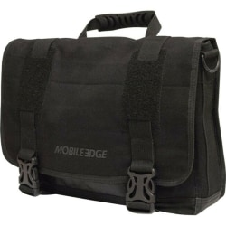 """Mobile Edge ECO Carrying Case Rugged (Messenger) for 14"""" to 15"""" MacBook Pro - Black - Cotton Canvas - Shoulder Strap, Clip - 10.5"""" Height x 15.5"""" Width x 4"""" Depth"""