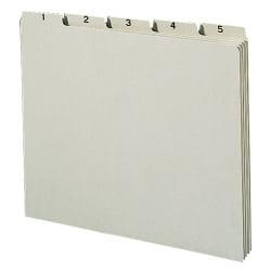 Smead® Preprinted Pressboard 1-31 Daily File Guide, Letter Size, 100% Recycled, Gray/Green