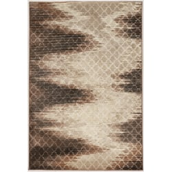 Linon Home Décor Products Banyon Area Rug, Wonsky Zig Zag, 2' x 3', Beige/Brown