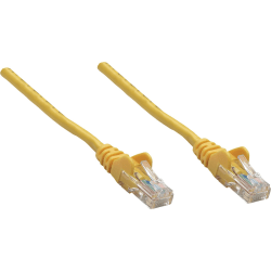 Intellinet Network Solutions Cat5e UTP Network Patch Cable, 3 ft (1.0 m), Yellow - RJ45 Male / RJ45 Male