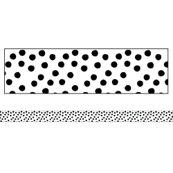 "Schoolgirl Style Straight Bulletin Board Borders, Twinkle Twinkle You're A STAR! Painted Dots, 3"" x 36"", Preschool - Grade 8, Pack Of 12 Borders"