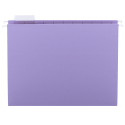 Smead® 1/5-Cut Color Hanging Folders, Letter Size, Lavender, Box Of 25