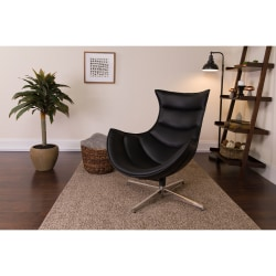 Flash Furniture Cocoon Swivel Chair, Black/Silver