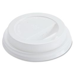 Genuine Joe Raised Siphole Hot Cup Lids - 1000 / Carton - White