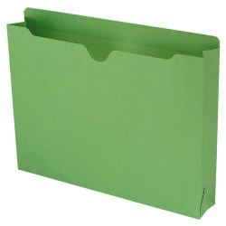 "Smead® Expanding Reinforced Top-Tab File Jackets, 2"" Expansion, Letter Size, Green, Box Of 50"
