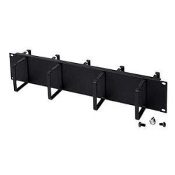 Belkin Double-Sided 2U Horizontal Cable Manager - Black - 2U Rack Height