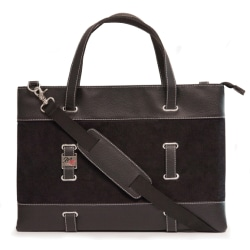 """Mobile Edge Carrying Case (Tote) for 11"""" Apple Tablet, iPad - Black - Corduroy Fabric, Faux Leather Trim - Shoulder Strap - 9.5"""" Height x 0.8"""" Width x 13"""" Depth"""