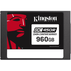 """Kingston DC450R 960 GB Solid State Drive - 2.5"""" Internal - SATA (SATA/600) - Read Intensive - 0.3 DWPD - 582 TB TBW - 560 MB/s Maximum Read Transfer Rate - 256-bit Encryption Standard - 5 Year Warranty"""