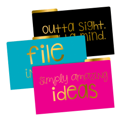 Barker Creek File Folders, Legal Size, File In Style, Pack Of 9