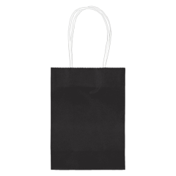 "Amscan Kraft Paper Bags, 5-1/8""H x 4""W x 2""D, Jet Black, Pack Of 24 Bags"