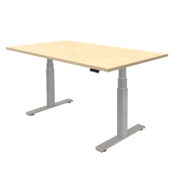 "Fellowes® Cambio Height-Adjustable Desk, 72""W, Maple"