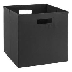 Linon Home Decor Products Emmet Storage Bins, Medium Size, Black, Pack Of 2