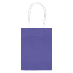 "Amscan Kraft Paper Bags, 5-1/8""H x 4""W x 2""D, Purple, Pack Of 24 Bags"
