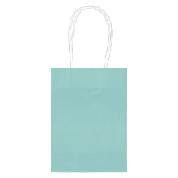 "Amscan Kraft Paper Bags, 5-1/8""H x 4""W x 2""D, Robin's Egg Blue, Pack Of 24 Bags"