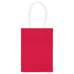 "Amscan Kraft Paper Bags, 5-1/8""H x 4""W x 2""D, Apple Red, Pack Of 24 Bags"