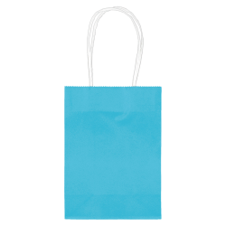"Amscan Kraft Paper Bags, 5-1/8""H x 4""W x 2""D, Caribbean Blue, Pack Of 24 Bags"