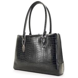 Mobile Edge Large Milano Computer Handbag (Small) - Top-loading - Faux Croc - Black