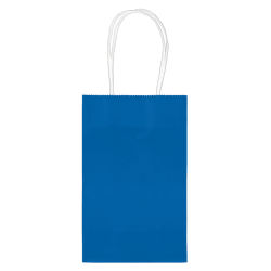 """Amscan Paper Solid Cub Gift Bags, 8-1/4""""H x 5-1/4""""W x 3-1/4""""D, Bright Royal Blue, Pack Of 40 Bags"""