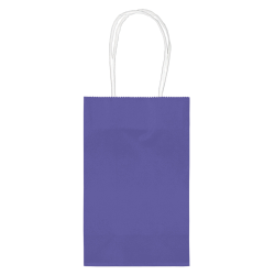 """Amscan Paper Solid Cub Gift Bags, 8-1/4""""H x 5-1/4""""W x 3-1/4""""D, Purple, Pack Of 40 Bags"""