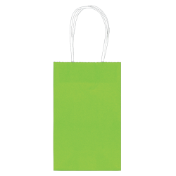 """Amscan Paper Solid Cub Gift Bags, 8-1/4""""H x 5-1/4""""W x 3-1/4""""D, Kiwi Green, Pack Of 40 Bags"""