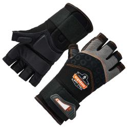 Ergodyne ProFlex 910 Half-Finger Impact Gloves With Wrist Support, Small, Black