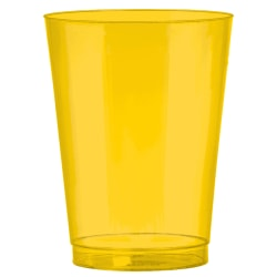 Amscan Plastic Cups, 10 Oz, Sunshine Yellow, 72 Cups Per Pack, Set Of 2 Packs