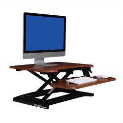 "FlexiSpot AlcoveRiser Sit-To-Stand Desk Converter, 28""W, Mahogany"