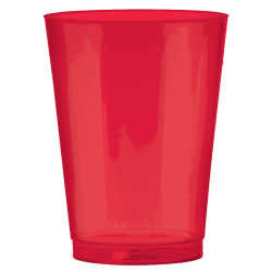 Amscan Plastic Cups, 10 Oz, Apple Red, 72 Cups Per Pack, Set Of 2 Packs