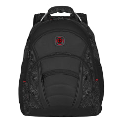 "Wenger® Synergy Backpack With 16"" Laptop Pocket, Black Reflective"