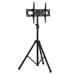 "Mount-It Portable TV Tripod Stand For 32"" - 70"" Displays, Black"
