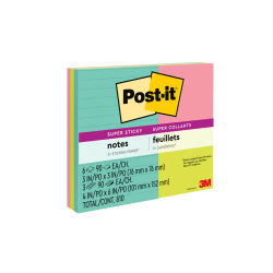 Post-it® Super Sticky Notes, 4 in x 6 in