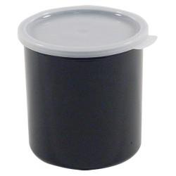 Cambro Crock With Lid, 2.7 Qt, Black