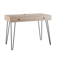 """Brenton Studio® Callay 42""""W Writing Desk, Blonde Oak/Black"""