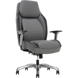 Shaquille O'Neal™ Zephyrus Bonded Leather High-Back Executive Chair, Gray