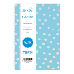 """Blue Sky™ Weekly/Monthly Planner, 5"""" x 8"""", Animal Mix, January to December 2021, 117913"""