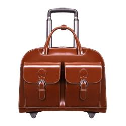 """McKlein L-Series Davis Briefcase With 15"""" Laptop Pocket, Brown"""