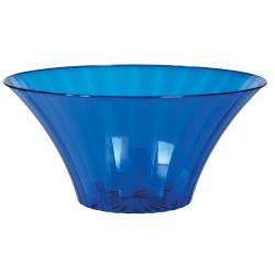 Amscan Large Plastic Flared Bowls, 70 Oz, Royal Blue, Pack Of 6 Bowls