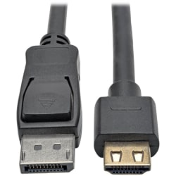 Tripp Lite DisplayPort to HDMI Adapter Cable Active DP 1.2a to HDMI 4K 6ft - Black