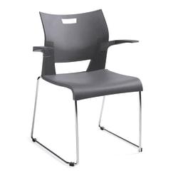 "Global® Duet™ Stacking Armchair, 32 1/4""H x 25 1/2""W x 23""D, Chrome"