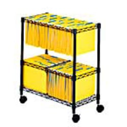 Safco® 2-Tier Rolling File Cart, Black