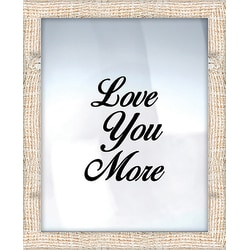 """PTM Images Expressions Framed Wall Art, Love You More, 17 1/2""""H x 21 1/2""""W, Crude"""