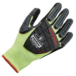 Ergodyne ProFlex 7141 Hi-Vis Nitrile-Coated DIR Level 4 Cut-Resistant Gloves, Large, Lime