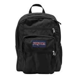 """JanSport Big Student Backpack with 15"""" Laptop Pocket, Black"""