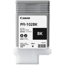 Canon PFI-102BK Original Ink Cartridge - Inkjet - Black - 1 Each