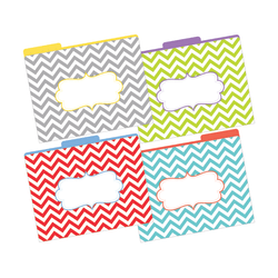 "Barker Creek Tab File Folders, 8 1/2"" x 11"", Letter Size, Chevron Beautiful, Pack Of 12"