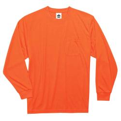 Ergodyne GloWear 8091 Non-Certified Long-Sleeve T-Shirt, Small, Orange