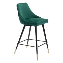 Zuo Modern® Piccolo Counter Chair, Green/Black