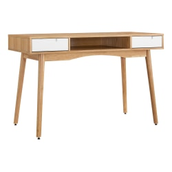 Linon Home Décor Products Caden Home Office Desk, Natural/White