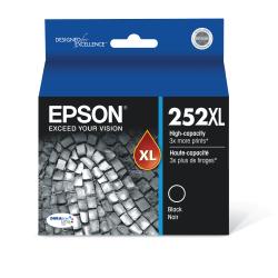Epson® 252XL DuraBrite® Ultra High-Yield Black Ink Cartridge, T252XL120-S