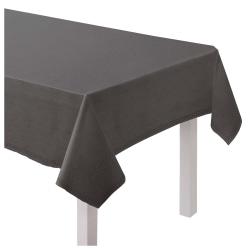 "Amscan Hem Stitch Fabric Table Cover, 60"" x 80"", Gray"